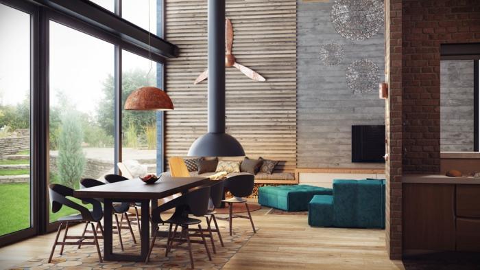 wohnungseinrichtung ideen loft style schlafzimmer ziegelwand ... - Loft Einrichten