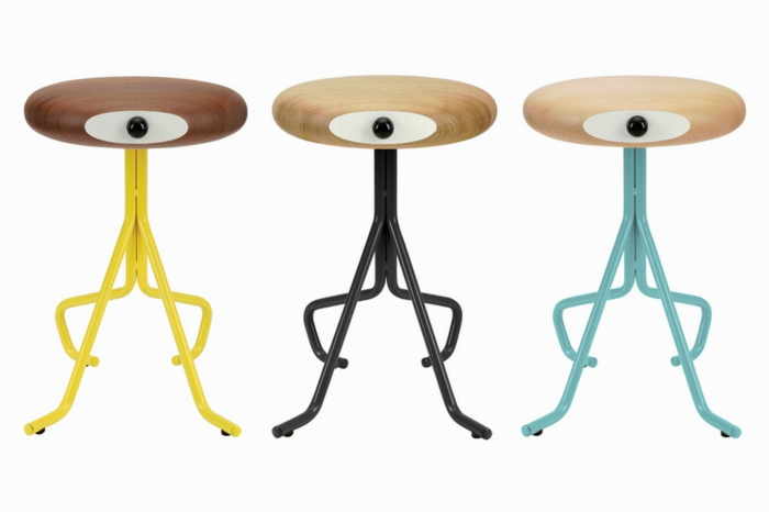 Dnisches Mbel Design Holzhocker von Phillip Grass