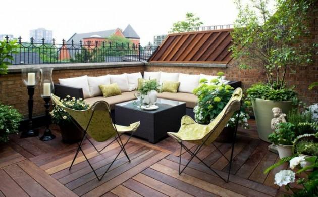 garten terrasse gestalten ideen stein materialien | ifmore