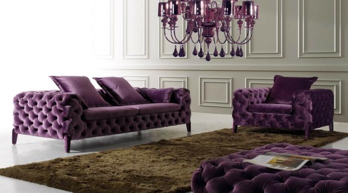 Wohnzimmer Lila Beige