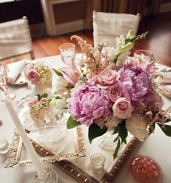 Schicke und gnstige Blumen Tischdeko zu Ihrer Hochzeit