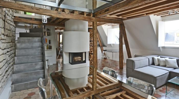 Wohnung einrichten  Ideen aus einem historischen Haus mit Innenhofterrasse in Paris