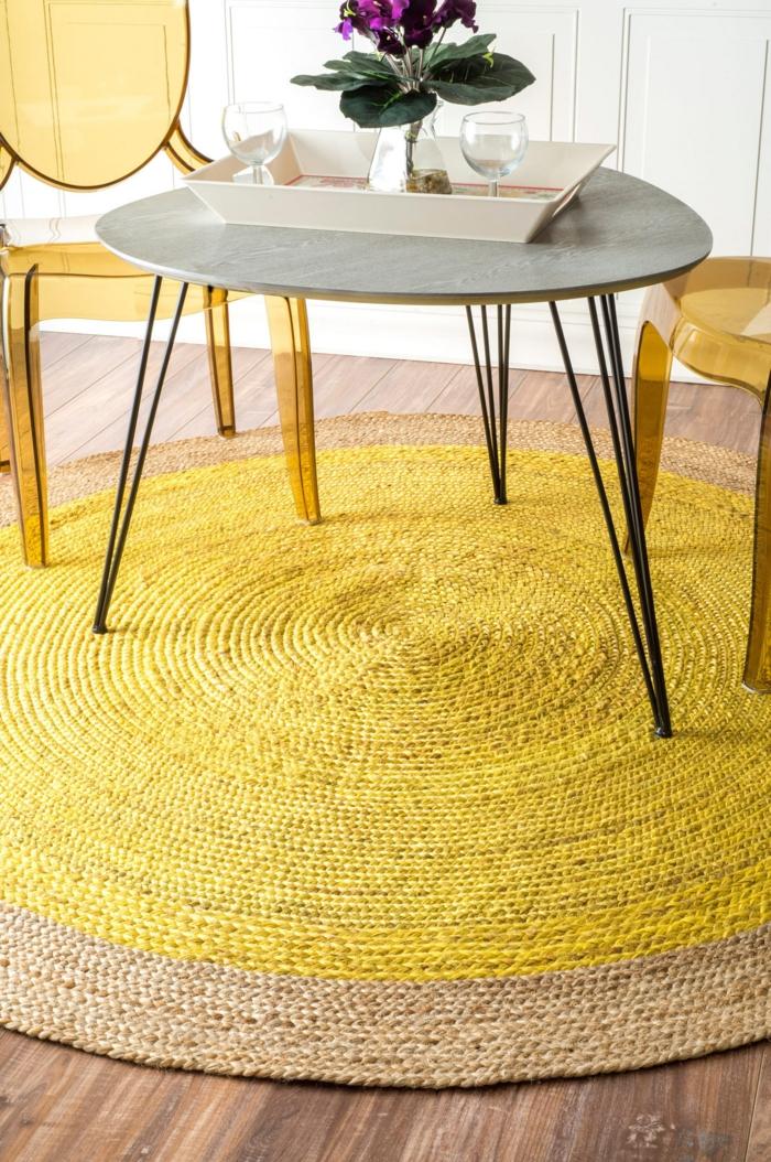Gelber Teppich fr eine frische und strahlende