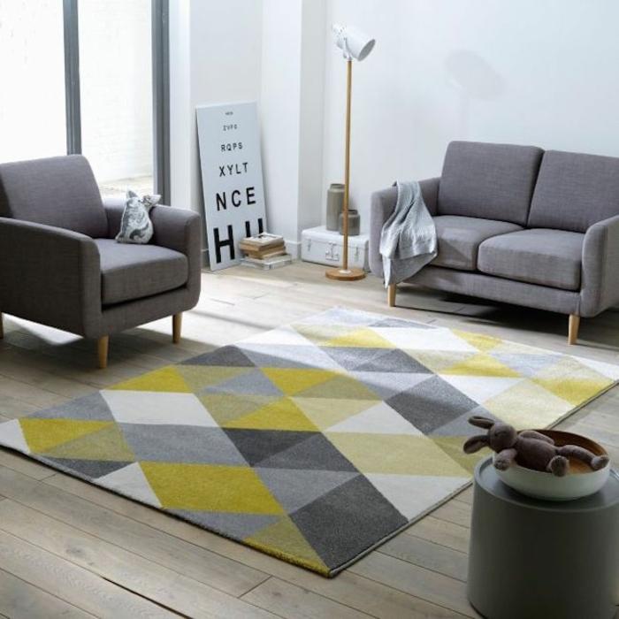 wohnzimmer einrichten gelb - terrasseenbois - Farbgestaltung Wohnzimmer Grau