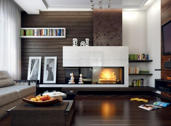 Wohnzimmer Ideen Dunkler Boden