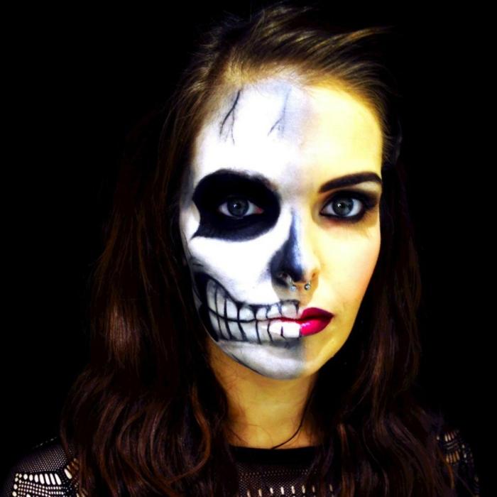 Halloween Ideen Frauen.Halloween Totenkopf Schminken Frau