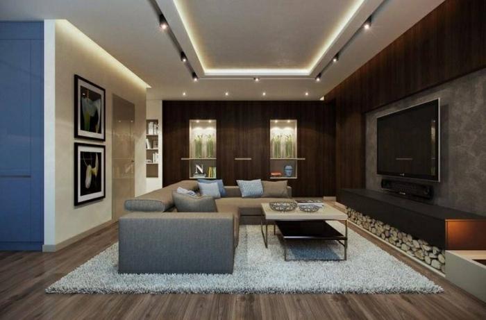 Indirekte Led Beleuchtung An Der Decke Im Wohnzimmer - Boisholz