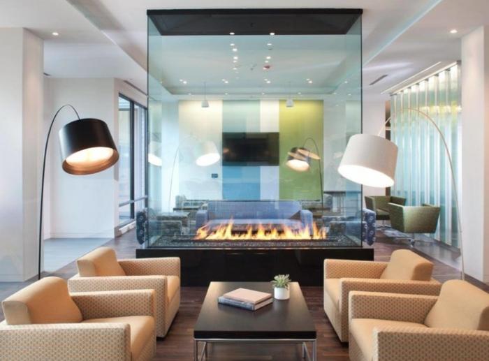 Wohnzimmer design modern mit kamin  Wohnzimmer Mit Kamin Modern | Haus Design Ideen