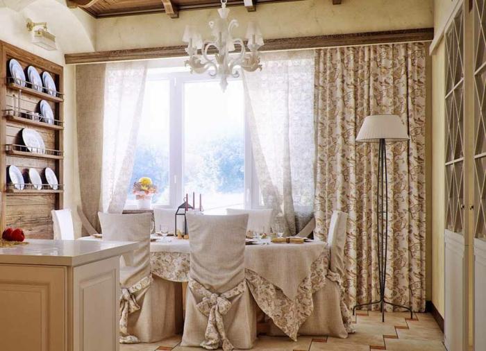 20 stilvolle Beispiele fr Gardinen im Landhausstil