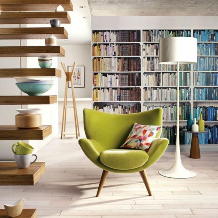 Cremefarbener Sessel Im Wohnzimmer - Boisholz Sessel Wohnzimmer Design
