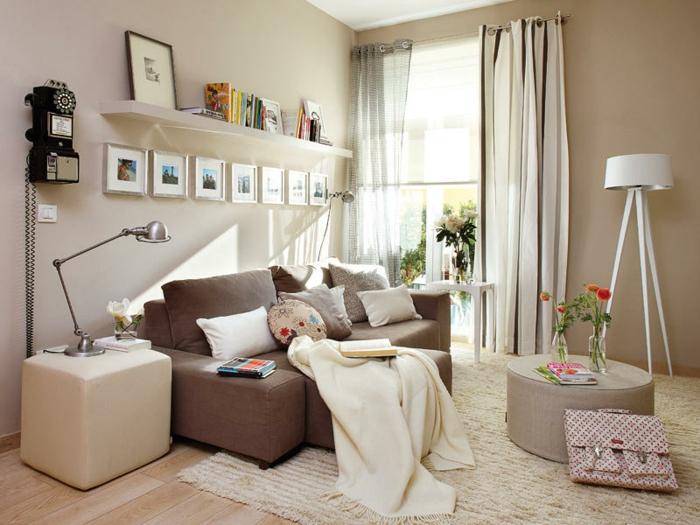 kleine wohnzimmer einrichten ideen - boisholz - Einrichtungsideen Wohnzimmer Retro