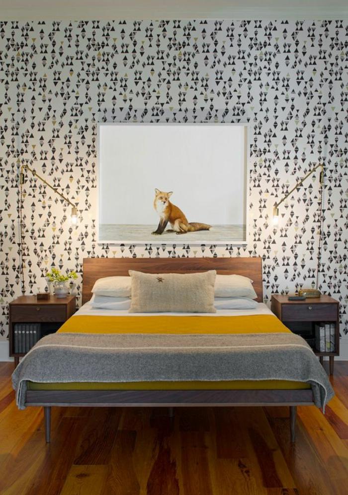 Animal Print Wallpaper For Bedrooms 50 Vintage Tapete Ideen Die Dem Raum Einen