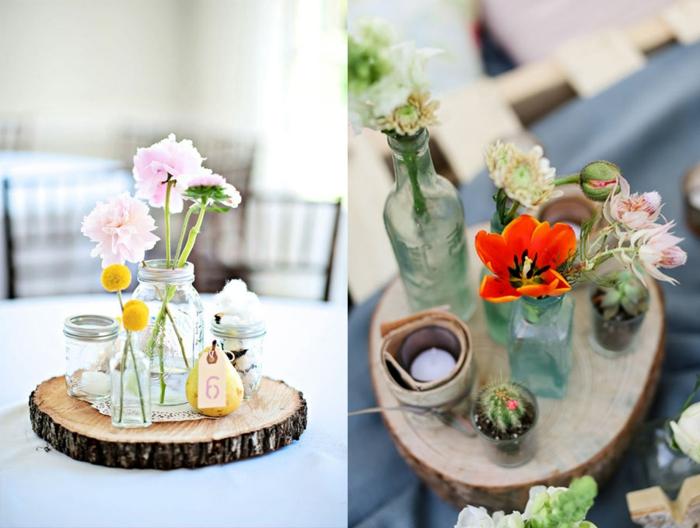 Tischdekoration Hochzeit  88 einzigartige Ideen fr Ihr Fest