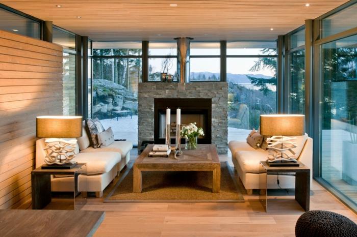 wohnzimmer gem tlich einrichten - boisholz - Wohnzimmer Gemutlich Kamin