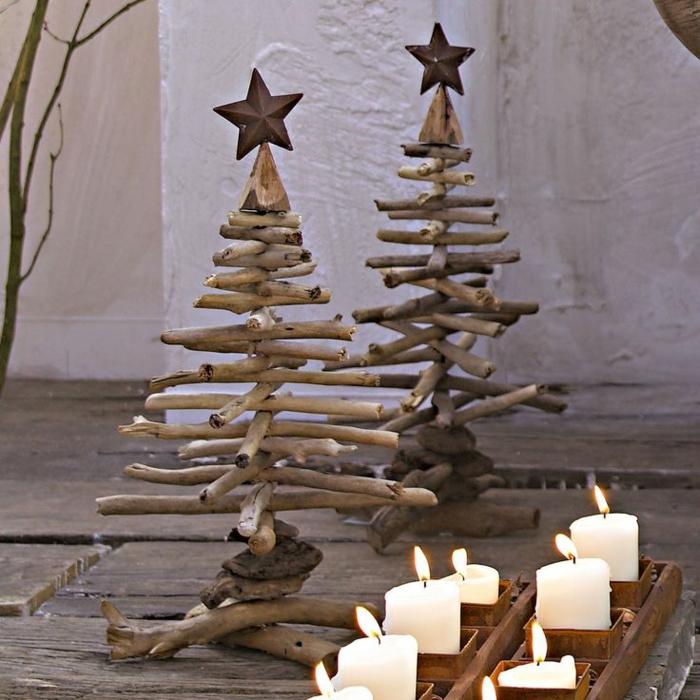 holzdekoration garten tannenbaum kunstlich bastelideen fur ... - Weihnachtsdeko 2015 Holz