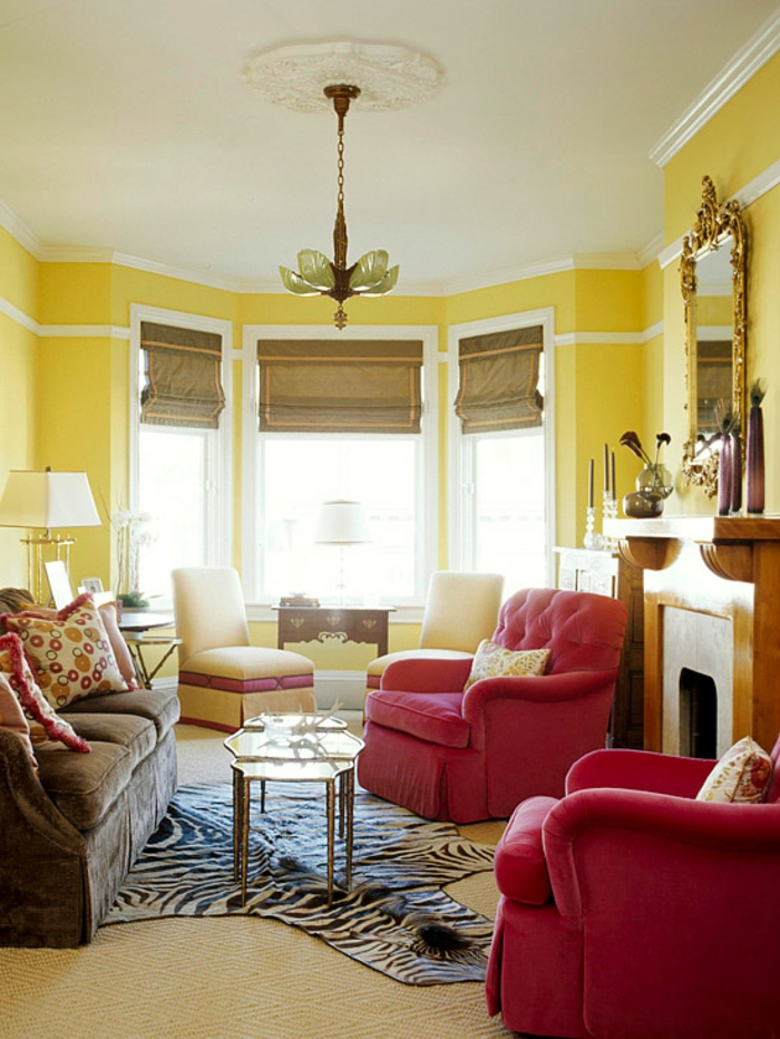 wandgestaltung wohnzimmer grau rot | ziakia.com. download ...