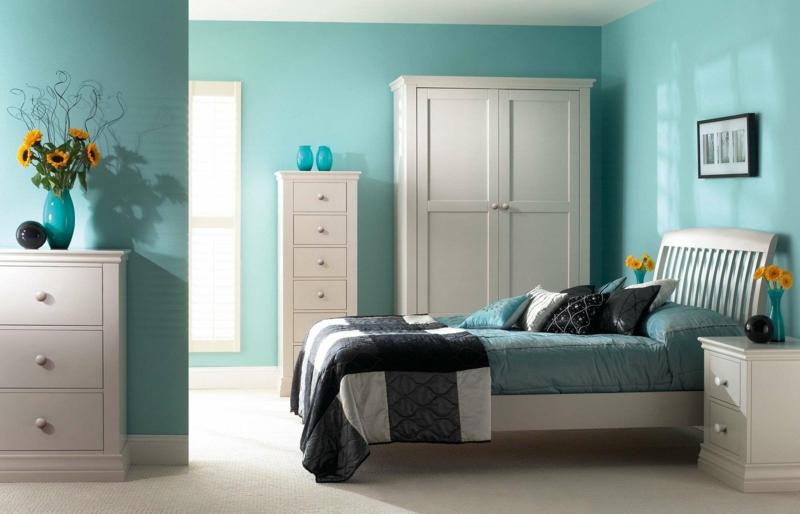 ideen wandfarben schlafzimmer - boisholz - Wandfarben Modern 2015 Blau