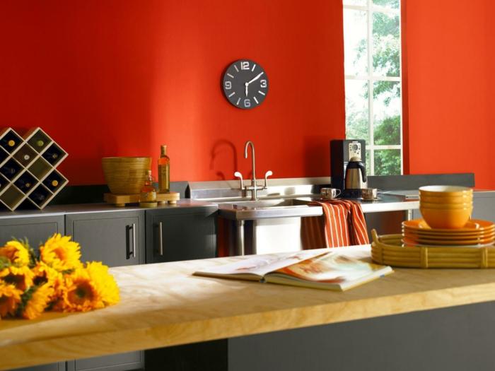 wandgestaltung farbe wand streichen ideen frisch kuche - boisholz - Kche Streichen Welche Farbe