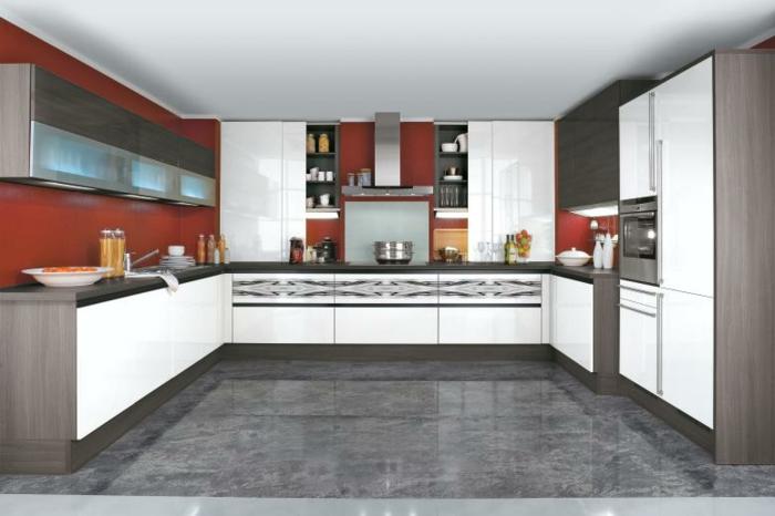 Weiße Küche Graue Arbeitsplatte Welche Wandfarbe   Farbe ...