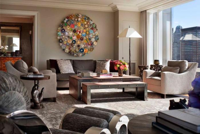 Wohnzimmer Beige Wohnzimmer Beige Braun Streichen Wandfarbe Grau ...