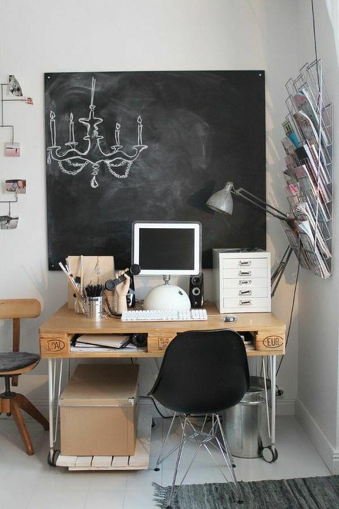 DIY Projekt Schreibtisch selber bauen  25 inspirierende Beispiele und Ideen
