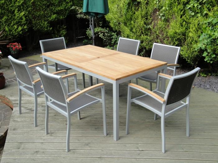 Melkul Gartenmobel Holz Und Aluminium Best Garten Ideen