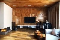 63 Wandpaneele Holz, die den Raum ganz individuell ...