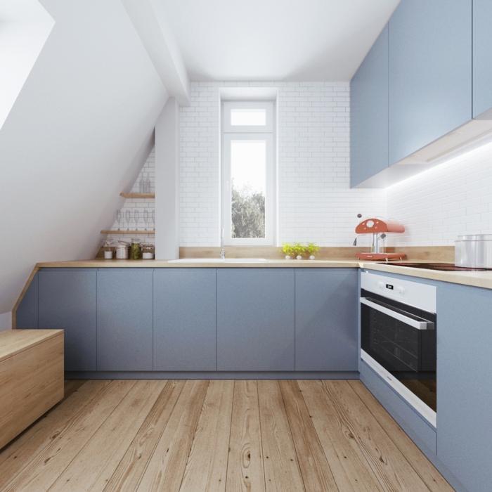 braune küche weiss streichen  zimmerdecke streichen 43