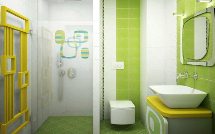 Badezimmerfliesen im Blickfang  100 Ideen fr Designs und