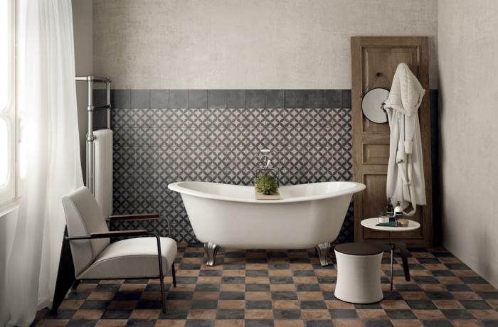 Badezimmerfliesen im Blickfang  100 Ideen fr Designs und Muster