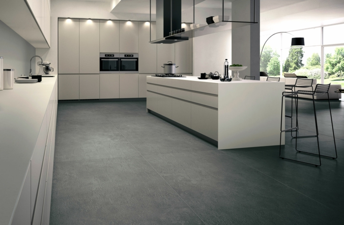 Klebefliesen Küche Boden   Bodenfliesen Schachbrett   Boden ...
