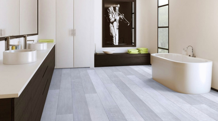 klick vinyl in fliesenoptik fr ein modernes badezimmer, Badezimmer gestaltung
