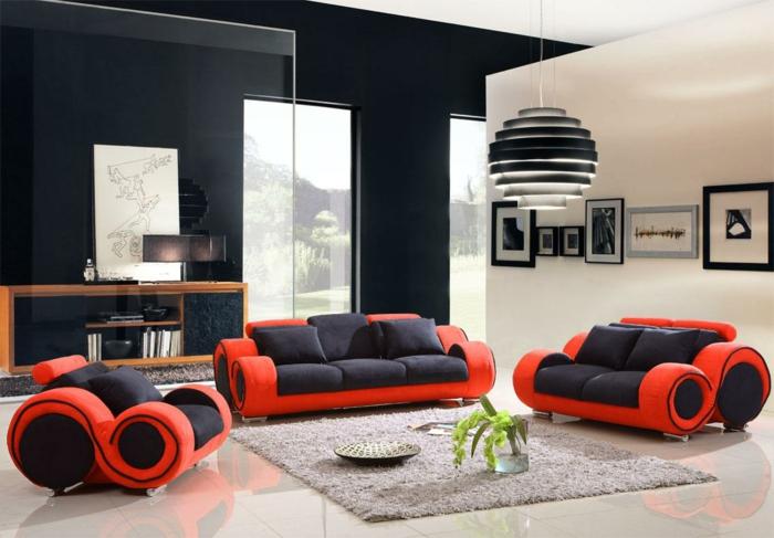 Wandfarbe Schwarz 59 Beispiele fr gelungene Innendesigns