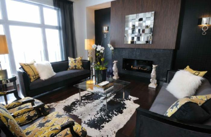 stunning wohnzimmer schwarz gelb contemporary - unintendedfarms.us ... - Wohnzimmer Gelb Schwarz