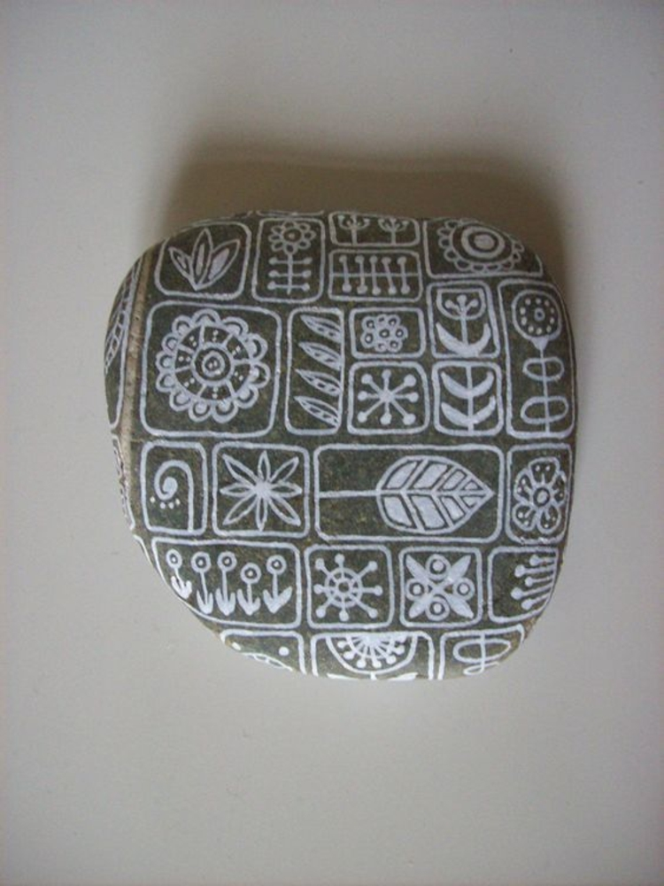 Steine bemalen 40 Ideen fr originelles Basteln mit Steinen