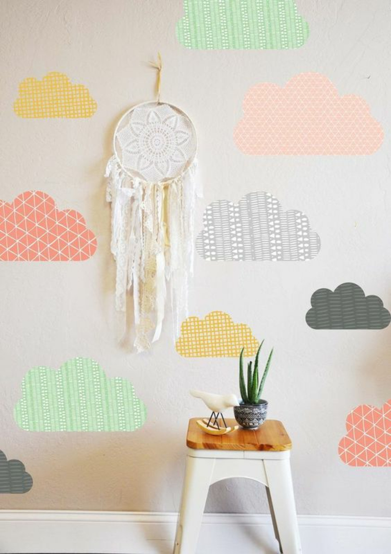 Tapeten Kinderzimmer Passende Farben und Motive auswhlen