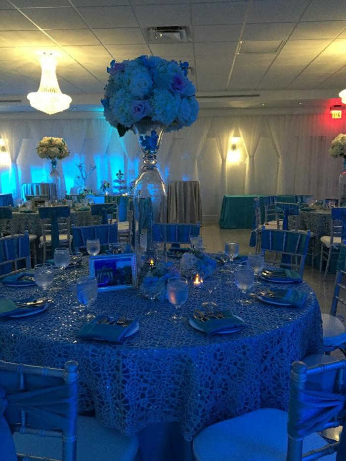 Tischdeko Blau fr Hochzeiten Jubilen und andere