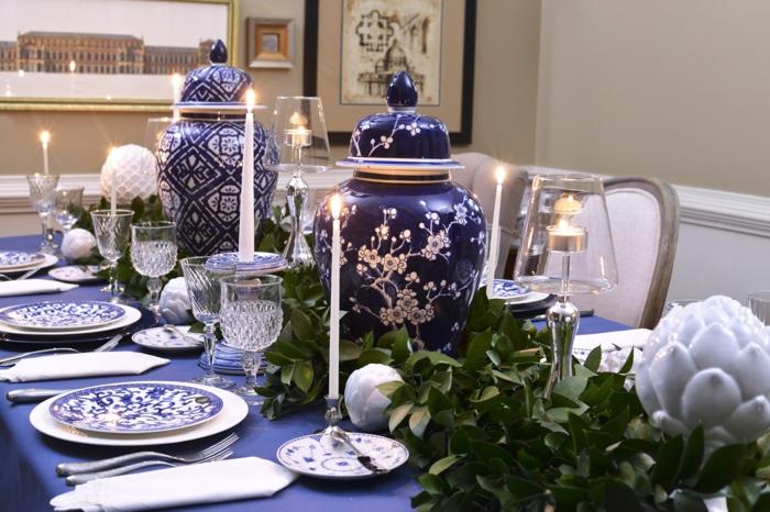 Tischdeko Blau fr Hochzeiten Jubilen und andere festliche Anlsse