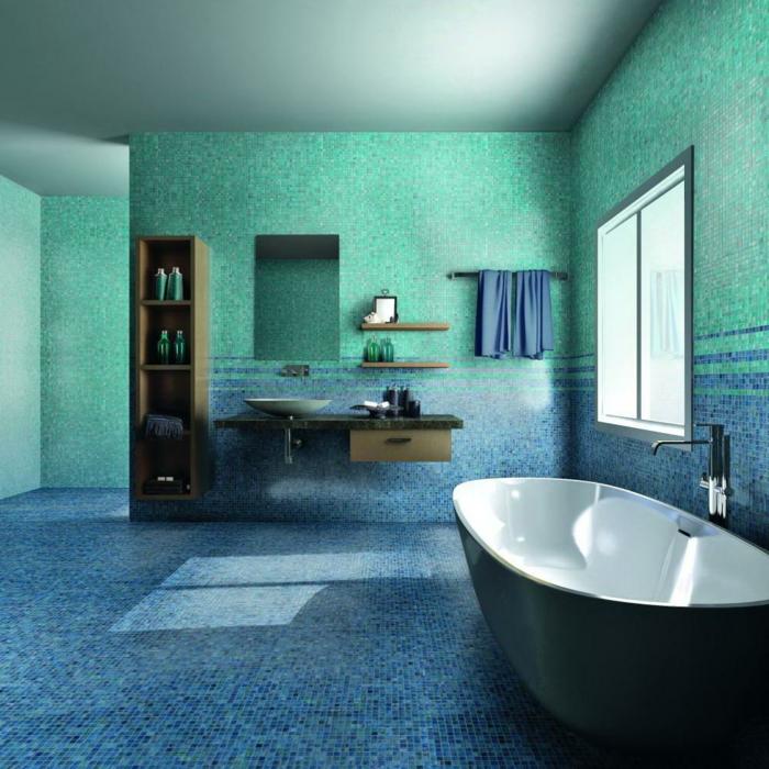 Wandgestaltung Bad  35 Ideen fr Badezimmergestaltung mit Fliesen
