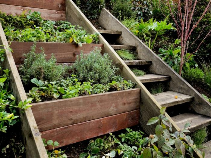 Gartentreppe holz gartenideen mit treppen startseite design bilder - Gartentreppe holz bauanleitung ...