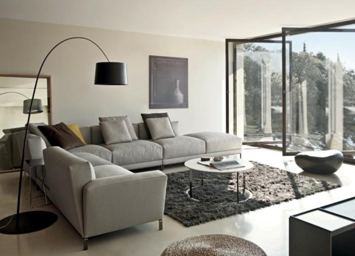 brown leather sofa on grey carpet vitra table 33 ecksofa beispiele, wie ecksofas räume anders erscheinen ...
