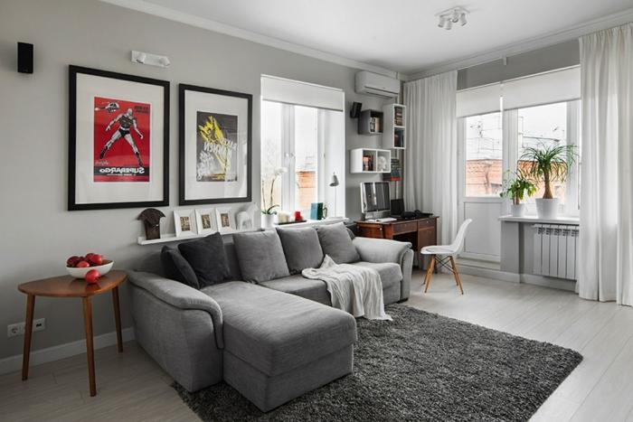 Wohnideen Wohnzimmer Graues Sofa sdatec.com