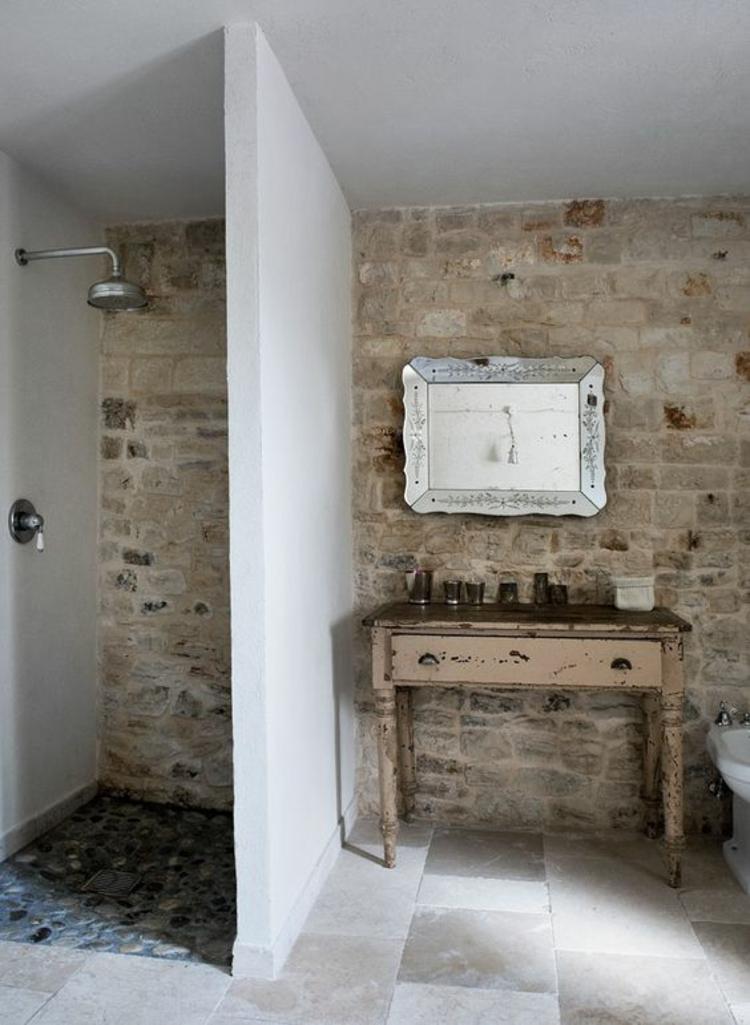 Travertin Fliesen im Badezimmer Gestaltungsmglichkeiten mit Natursteinfliesen