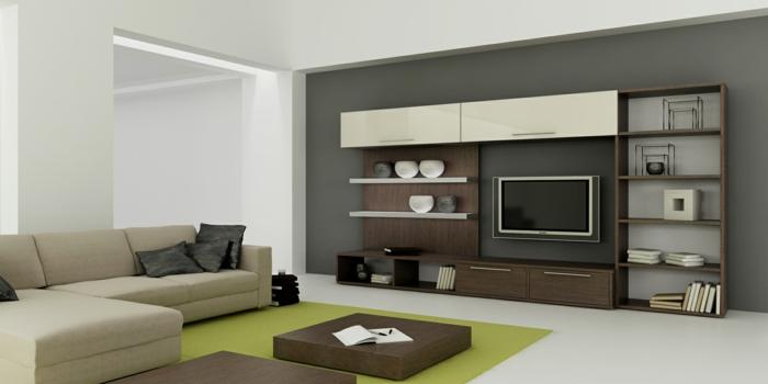 Kleines Wohnzimmer Wohnwand
