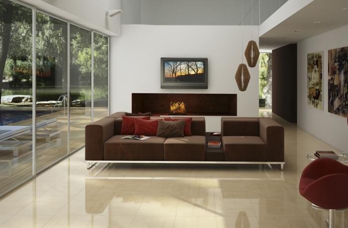 Wohnzimmer Farbe Creme