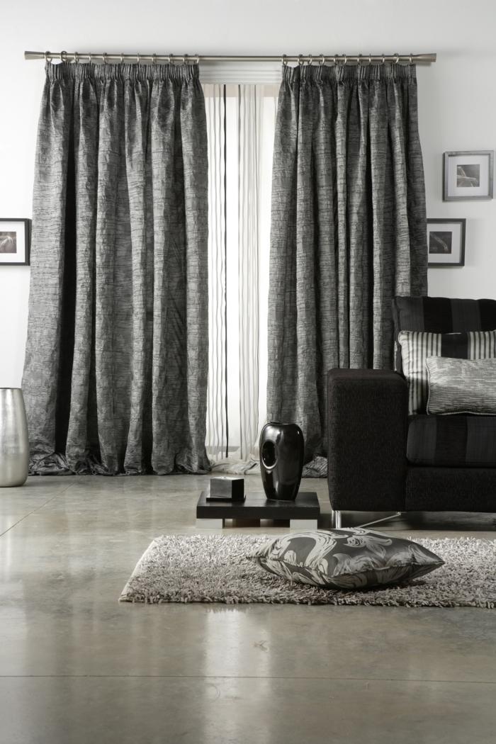 gardinen wohnzimmer ideen ideen f r die. Black Bedroom Furniture Sets. Home Design Ideas