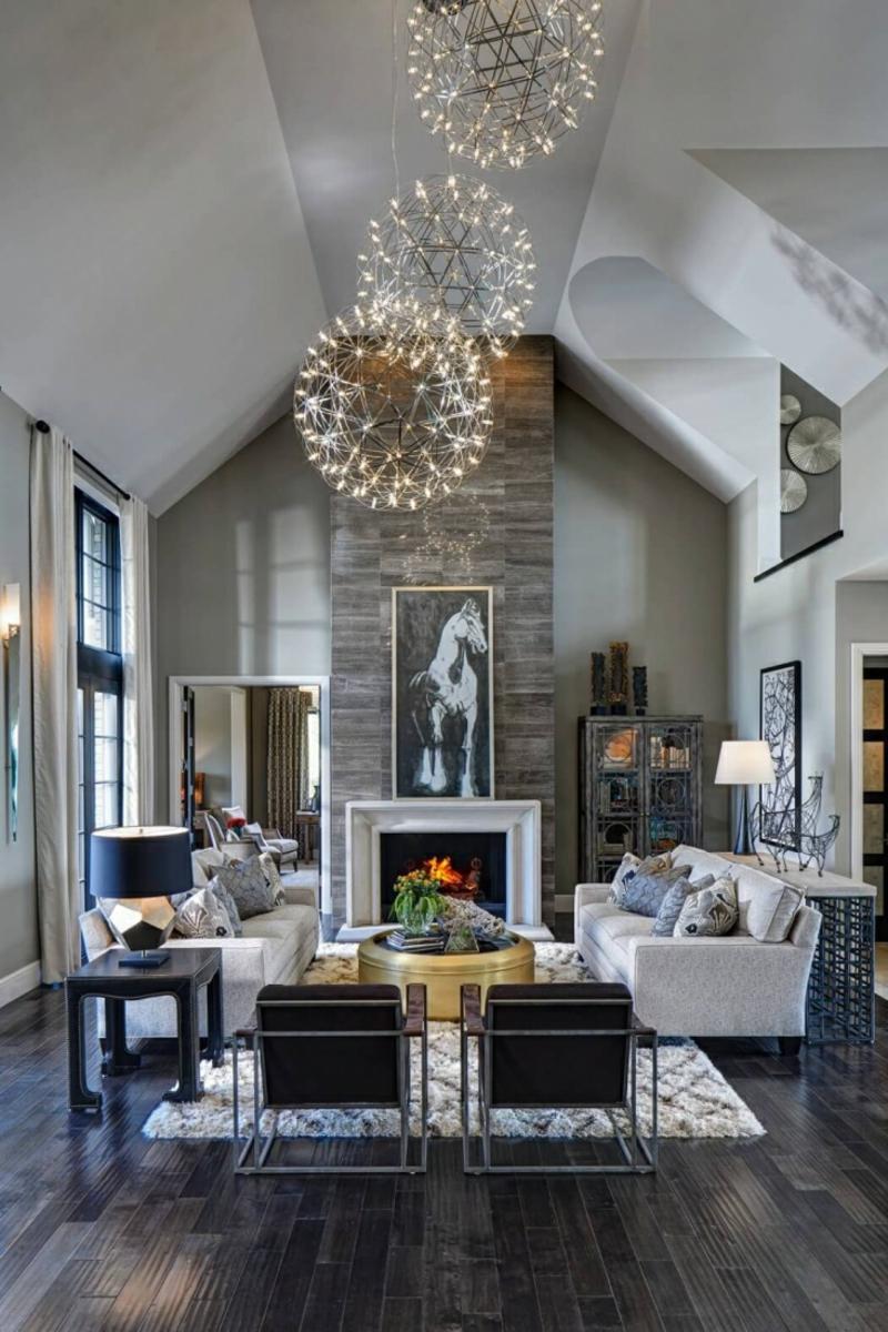 Wohnzimmerleuchten und Lampen fr ein modernes Ambiente