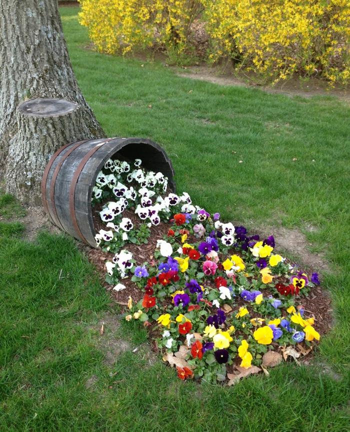 Deko Ideen Selbermachen Gartendekoration Blumen Fa E