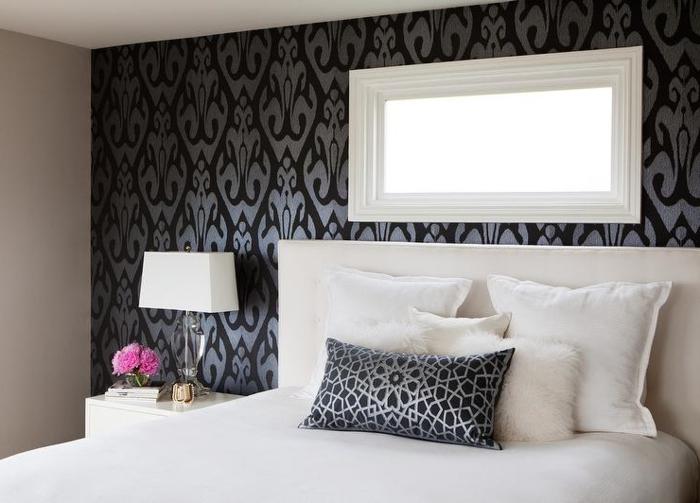 Schwarze Tapeten Tapezieren Tapeten Wohnzimmer Ideen Wohnzimmer, Wohnzimmer  Design