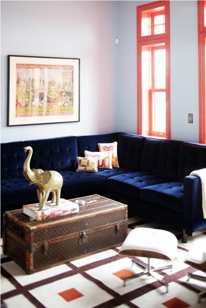 Blaues Sofa  50 Einrichtungsideen mit Sofa in Blau die